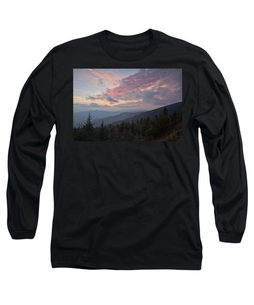 Sunset At Clingman's Dome Long Sleeve T-Shirt
