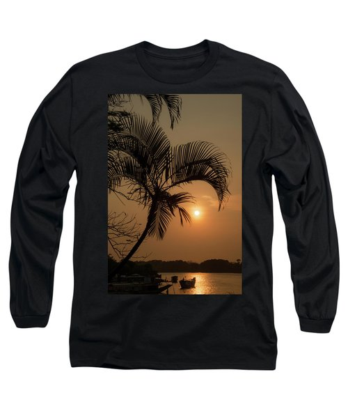 sunset Huong river Long Sleeve T-Shirt