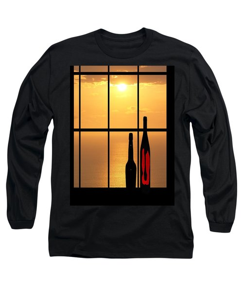 Sunset In Hawaii Long Sleeve T-Shirt by Athala Carole Bruckner