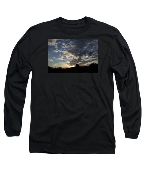 Sunset On Hunton Lane #1 Long Sleeve T-Shirt by Carlee Ojeda