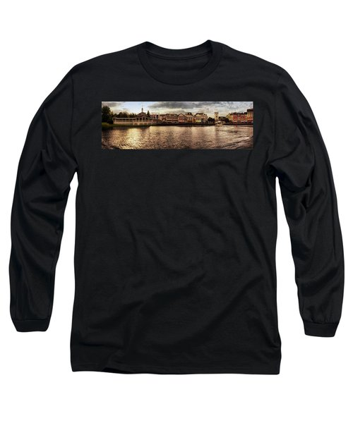 Sunset On The Boardwalk Walt Disney World Mp Long Sleeve T-Shirt by Thomas Woolworth
