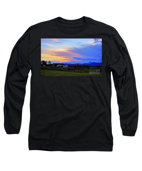 Sunset Over The Great Divide Long Sleeve T-Shirt by Blair Stuart