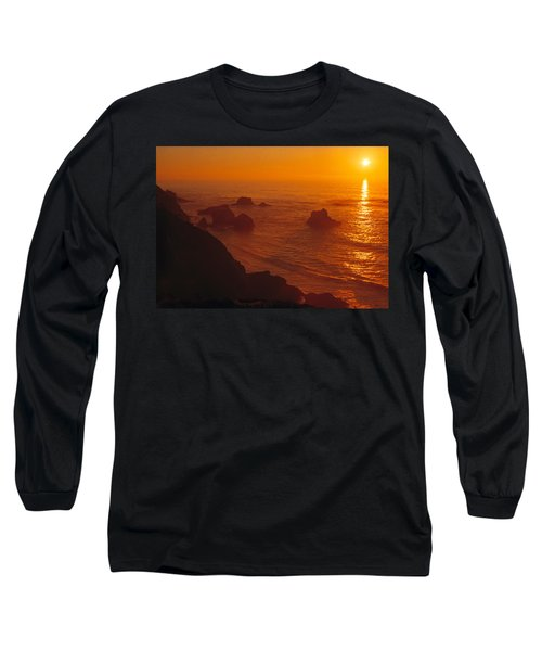 Sunset Over The Pacific Ocean Long Sleeve T-Shirt by Utah Images