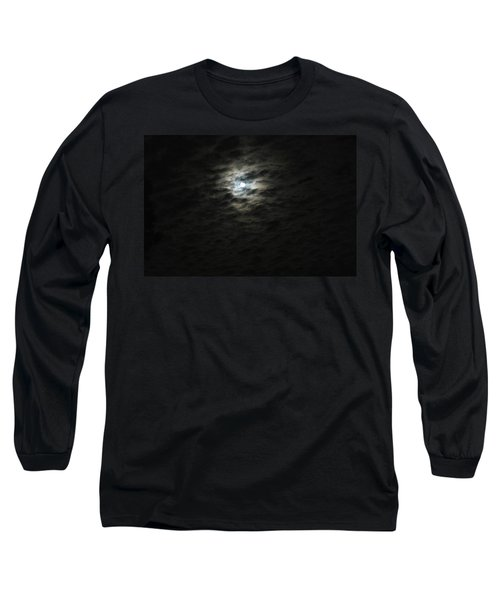 Long Sleeve T-Shirt featuring the photograph super moon II by Irma BACKELANT GALLERIES