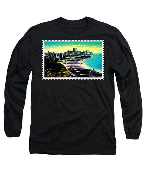 Surreal Colors Of Miami Beach Florida Long Sleeve T-Shirt