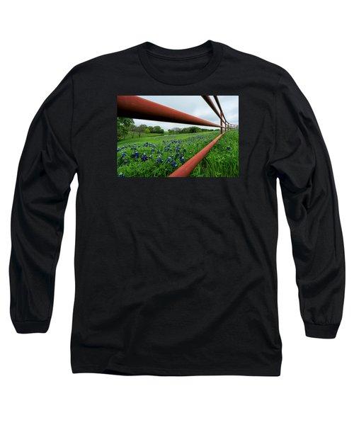 Texas Bluebonnets In Ennis Long Sleeve T-Shirt