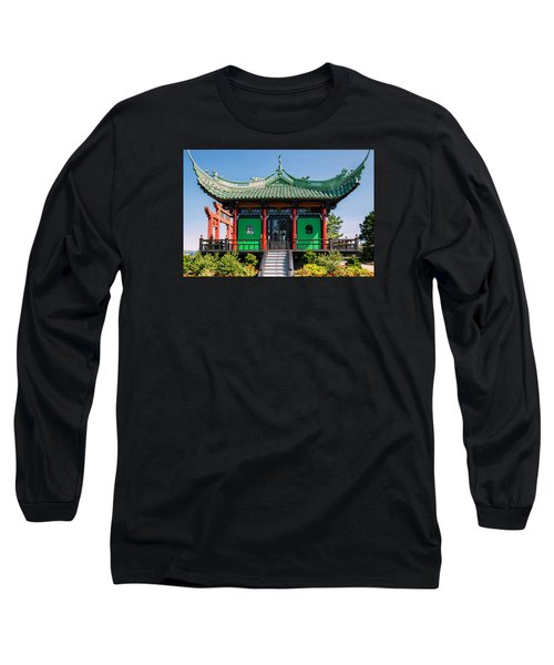 The Chinese Tea House Long Sleeve T-Shirt by Sabine Edrissi