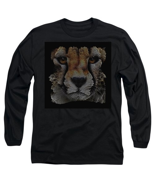 The Face Of A Cheetah Long Sleeve T-Shirt