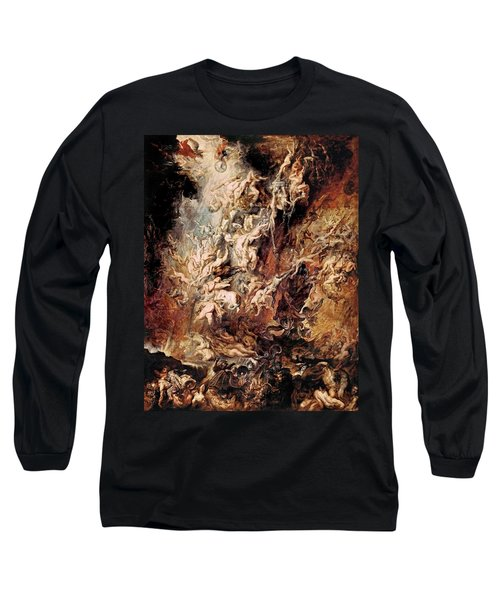 Long Sleeve T-Shirt featuring the painting The Fall Of The Damned by Peter Paul Rubens