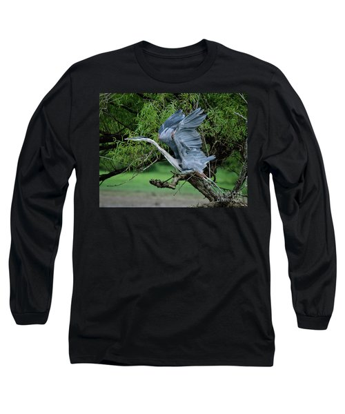 Long Sleeve T-Shirt featuring the photograph The Launch by Douglas Stucky
