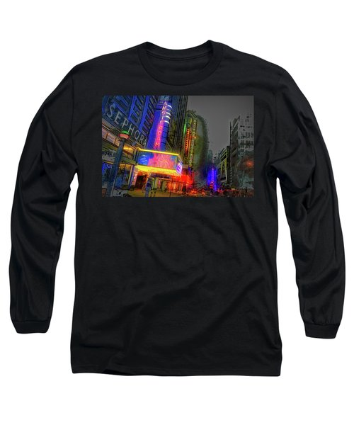 Long Sleeve T-Shirt featuring the photograph Times Square by Theodore Jones
