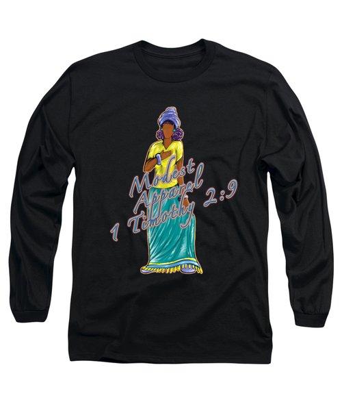 1 Timothy 2vs.9 Modest Apparel Long Sleeve T-Shirt