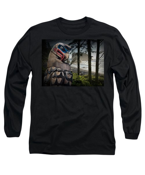 Totem Pole In The Pacific Northwest Long Sleeve T-Shirt