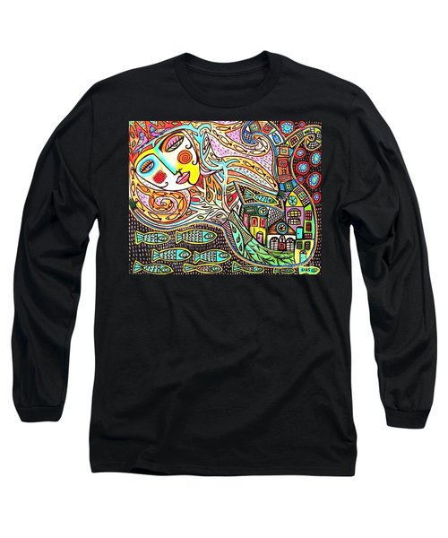 Tree Of Life Village Mermaid Long Sleeve T-Shirt