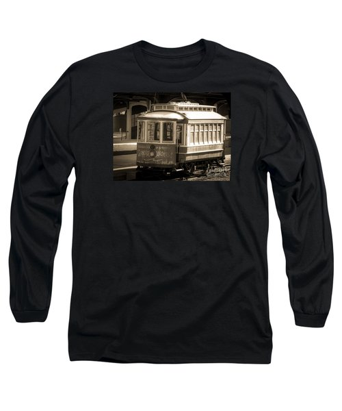 Long Sleeve T-Shirt featuring the photograph Vintage Train Trolley by Melissa Messick