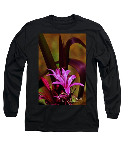 Tropical Lily Long Sleeve T-Shirt by Craig Wood