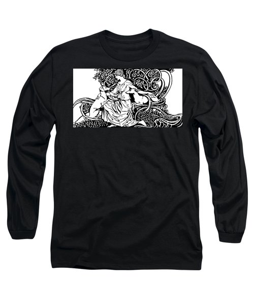 Tuiren With Bran And Sceolan From The Birth Of Bran Long Sleeve T-Shirt