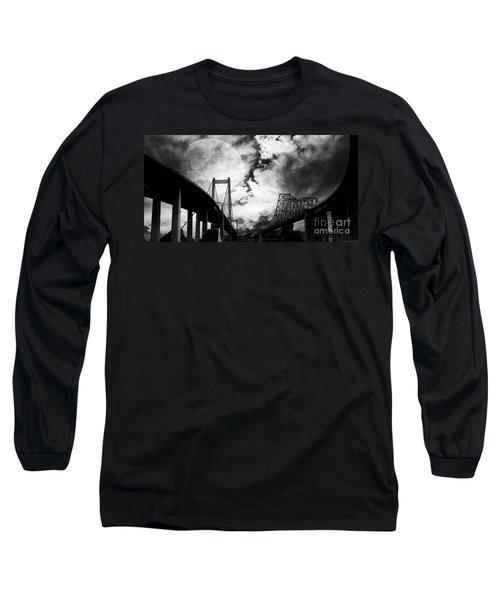 Two Bridges One Moon Long Sleeve T-Shirt