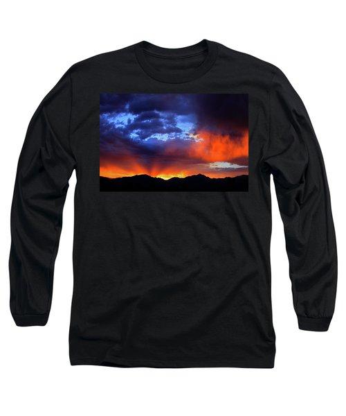 Wasatch Sunrise Long Sleeve T-Shirt by Paul Marto