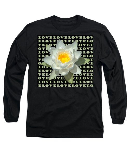 Water Lily Love Long Sleeve T-Shirt