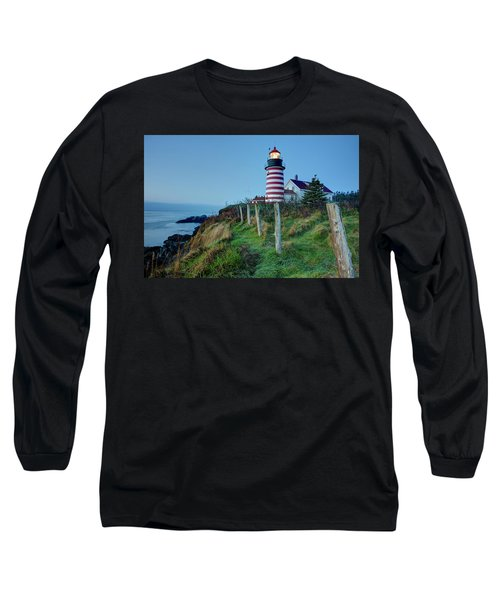 West Quoddy Head Light Long Sleeve T-Shirt
