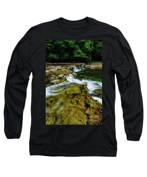 Whitaker Falls In Summer Long Sleeve T-Shirt
