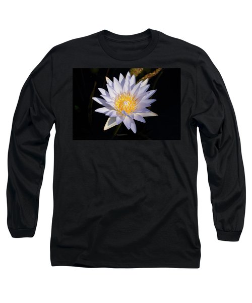 Long Sleeve T-Shirt featuring the photograph White Water Lily by Steve Stuller