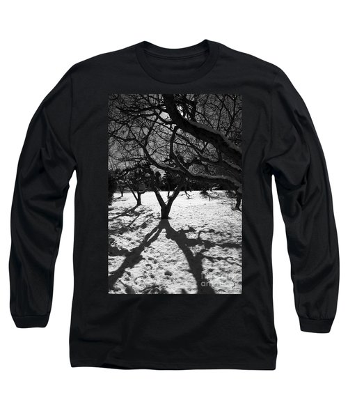 Long Sleeve T-Shirt featuring the photograph Winter Shadows by Yulia Kazansky
