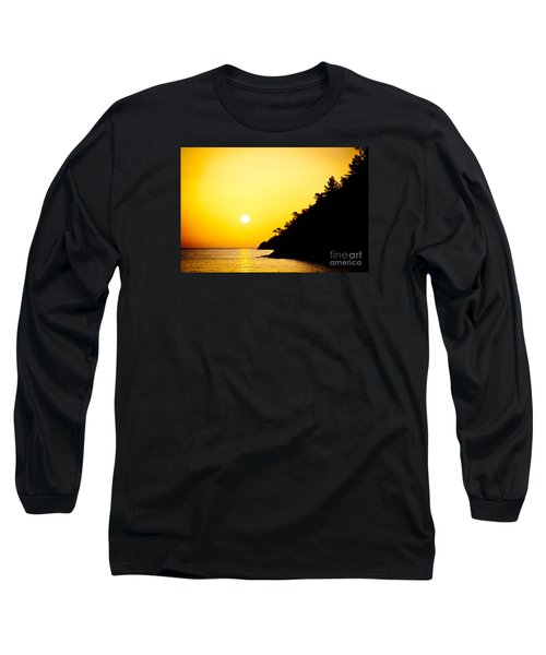 Yellow Sunrise Seascape And Sun Artmif Long Sleeve T-Shirt