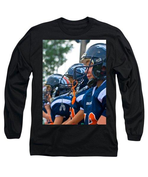 Youth Football Long Sleeve T-Shirt by Susan Leggett