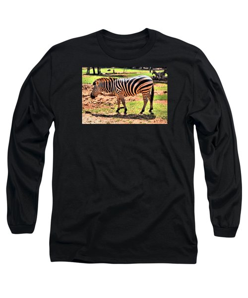 Zebra Long Sleeve T-Shirt by James Potts