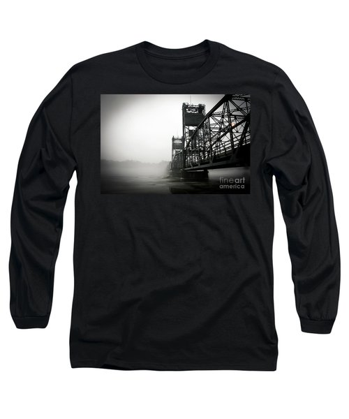1156 Stillwater Bridge Black And White Long Sleeve T-Shirt