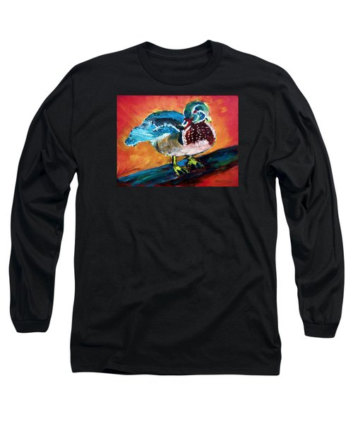 122215 Male Wood Duck Long Sleeve T-Shirt