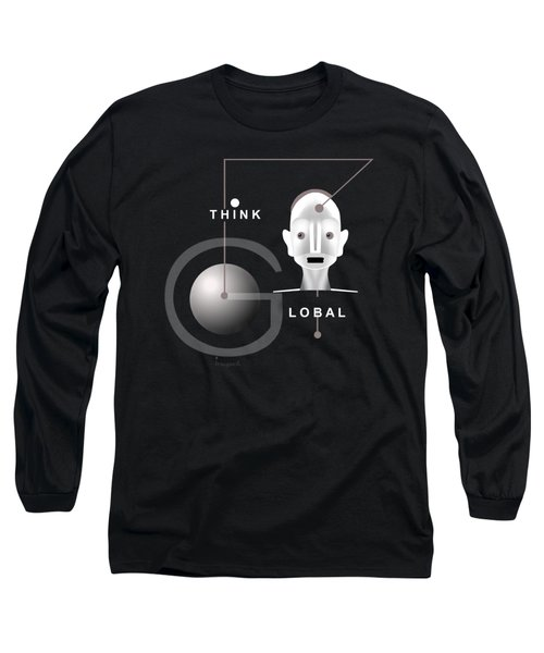 1277 - T Shirt Think Global Long Sleeve T-Shirt by Irmgard Schoendorf Welch