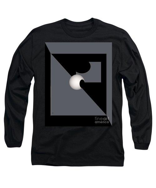 Long Sleeve T-Shirt featuring the digital art 1354-2  2017 by John Krakora