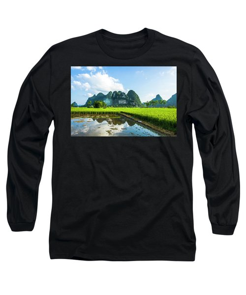 The Beautiful Karst Rural Scenery Long Sleeve T-Shirt