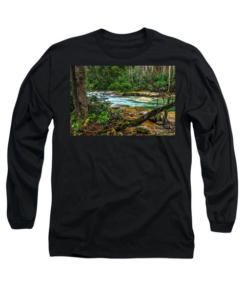 Long Sleeve T-Shirt featuring the photograph Back Fork Of Elk River by Thomas R Fletcher