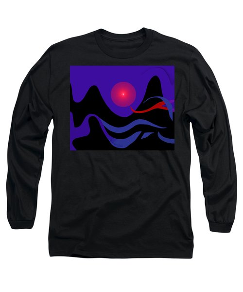 1536 - Red Mountain Sun -  2017 Long Sleeve T-Shirt by Irmgard Schoendorf Welch