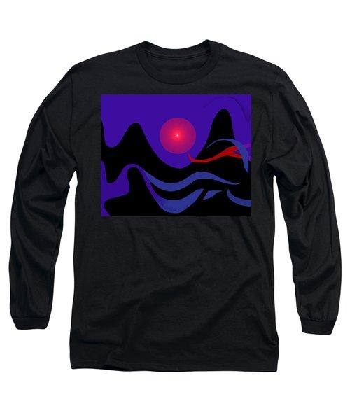 1536 - Red Mountain Sun -  2017 Long Sleeve T-Shirt