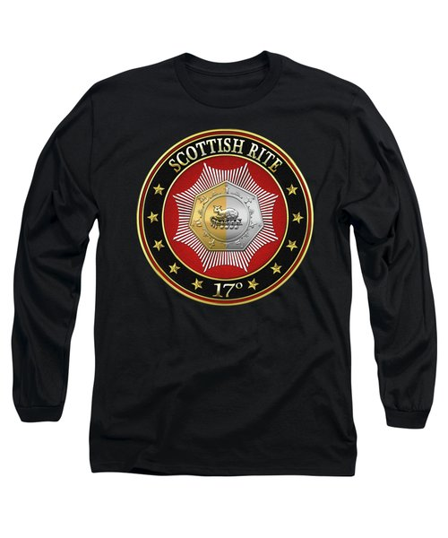 17th Degree - Knight Of The East And West Jewel On Black Leather Long Sleeve T-Shirt