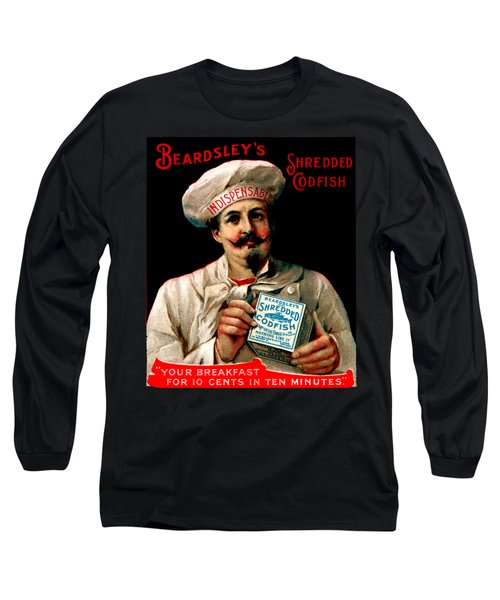 1895 Shredded Codfish Breakfast Long Sleeve T-Shirt by Historic Image