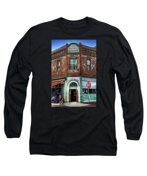 1898 Hotel Connor - Jerome Arizona Long Sleeve T-Shirt by Saija  Lehtonen