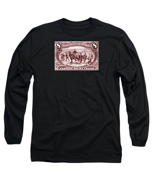 1898 Troops Guard Wagon Train Long Sleeve T-Shirt by Historic Image