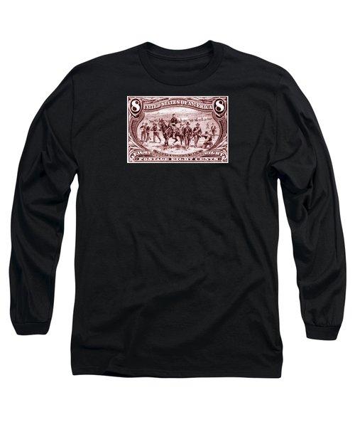 1898 Troops Guard Wagon Train Long Sleeve T-Shirt