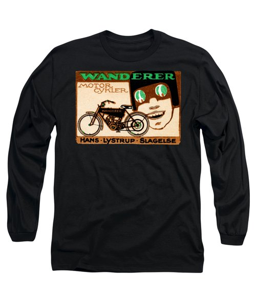 1910 Wanderer Motorcycle Long Sleeve T-Shirt by Historic Image