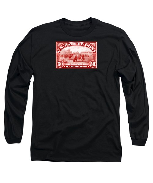 1913 Dairy Industry Stamp Long Sleeve T-Shirt