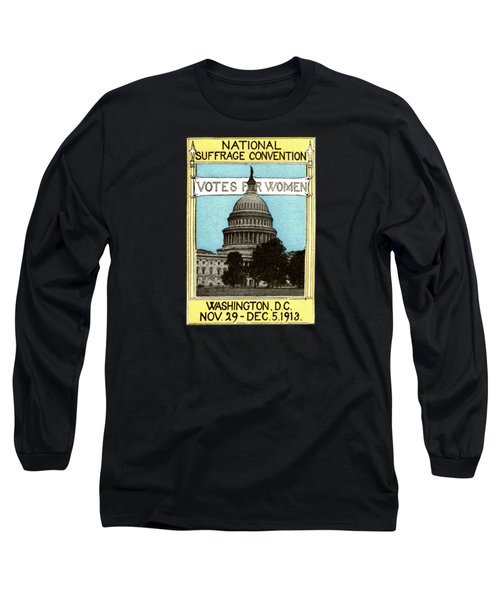 1913 Votes For Women Long Sleeve T-Shirt by Historic Image