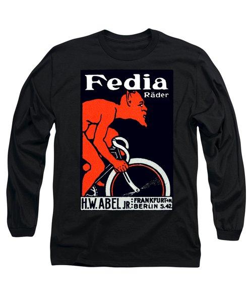 1920 Devil Riding A Bicycle Long Sleeve T-Shirt