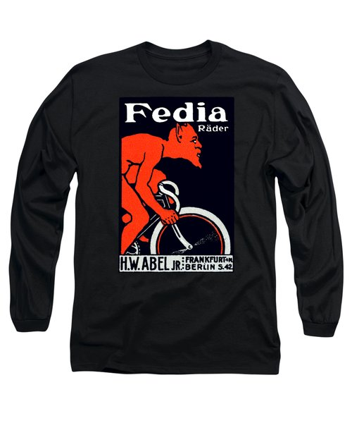 1920 Devil Riding A Bicycle Long Sleeve T-Shirt