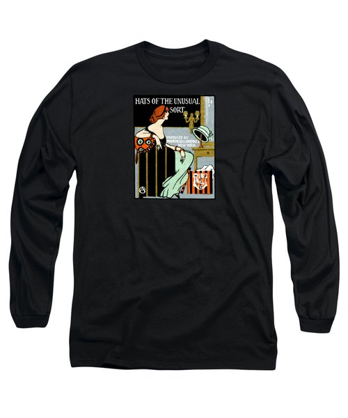 1920 Hats Of The Unusual Sort Long Sleeve T-Shirt by Historic Image